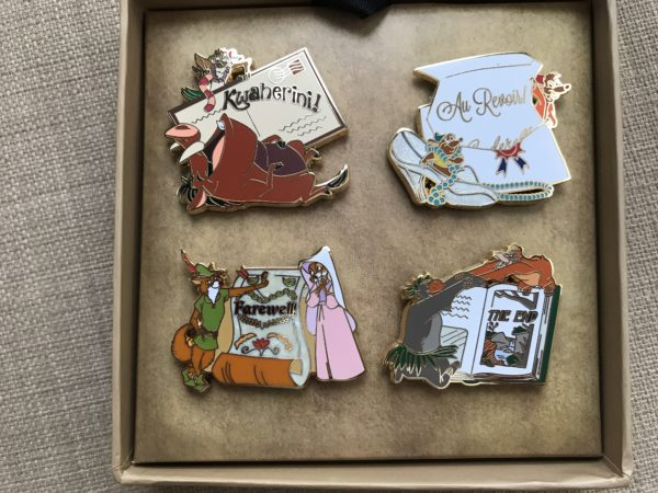 Here are the four pins in the Love is an Adventure limited edition pin pack!