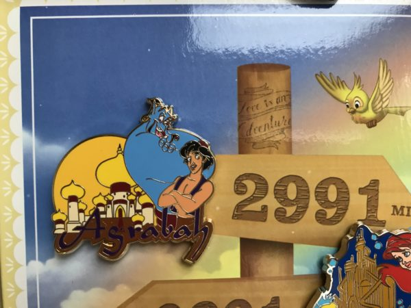 Limited Edition Love is an Adventure Aladdin pin.