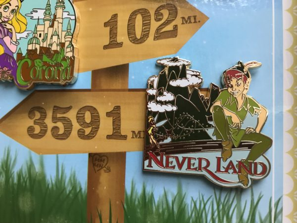 Limited Edition Love is an Adventure Peter Pan pin.