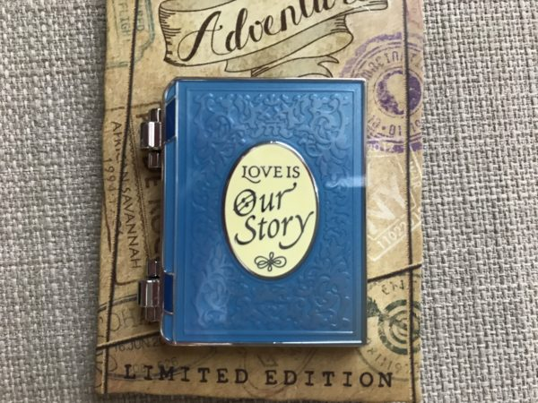 Limited Edition Love is Our Story pin.