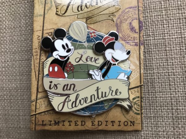 Limited Edition Love is an Adventure Mickey and Minnie Mouse pin.