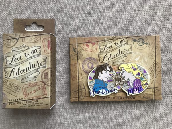 Rapunzel and Flynn Rider limited edition pin with box.
