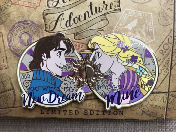 Rapunzel and Flynn Rider limited edition pin.