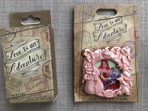 Limited Edition Roger Rabbit and Jessica Rabbit pin with box.