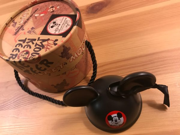 This is a classic Ear Hat ornament celebrating the Mickey Mouse Club! It comes in a terrific hat box container.