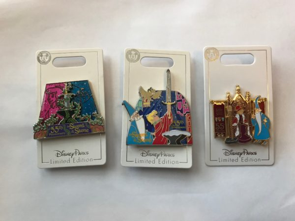 You could win these Sword in the Stone pins this month!
