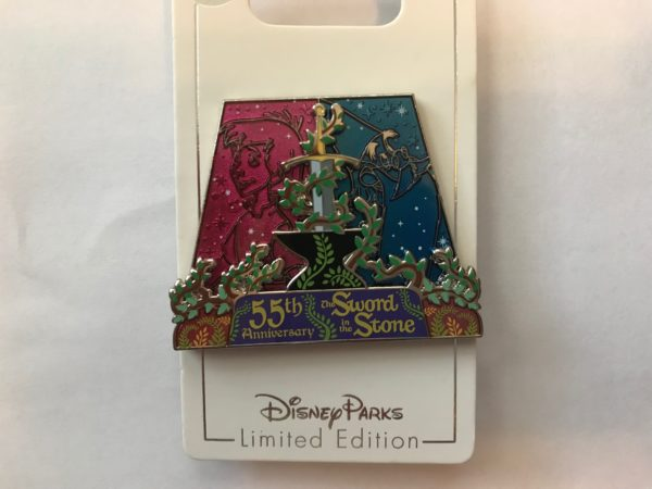 This pin celebrates the 55th anniversary of the Sword in the Stone.
