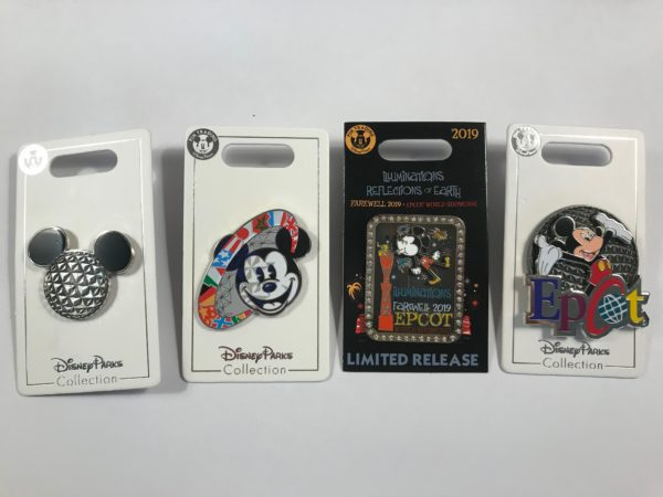 You could win these pins celebrating Epcot's Illuminations: Reflections of Earth fireworks show.