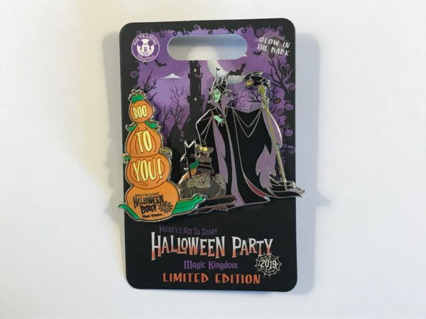 "Limited edition 2019 ""Boo to You"" Maleficent pin."