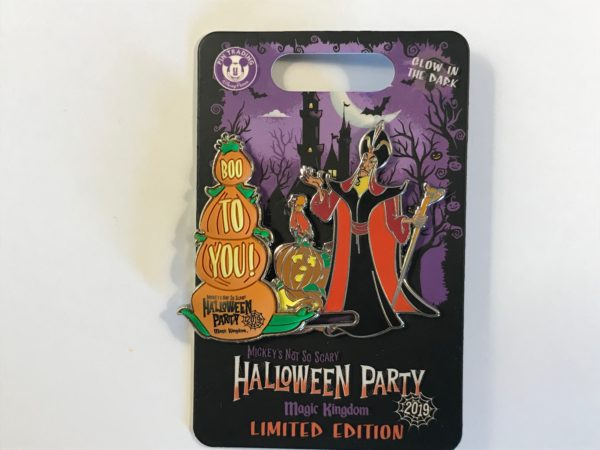 "Limited edition 2019 ""Boo to You"" Jafar and Iago pin."