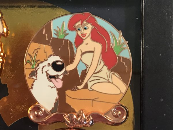When Ariel arrives on land, she meets Prince Eric's sheepdog, Max.