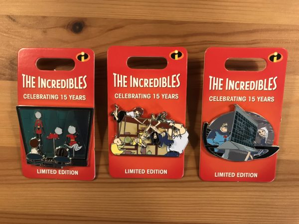 This month's pins feature The Incredibles!