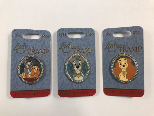 This month's pins celebrate Lady and the Tramp!
