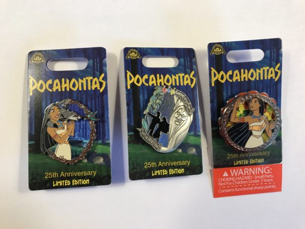 Check out these cool limited edition pins celebrating the 25th anniversary of Pocahontas!