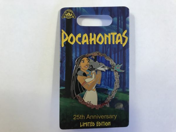 Here is Pocahontas with her friends Meeko and Flit!