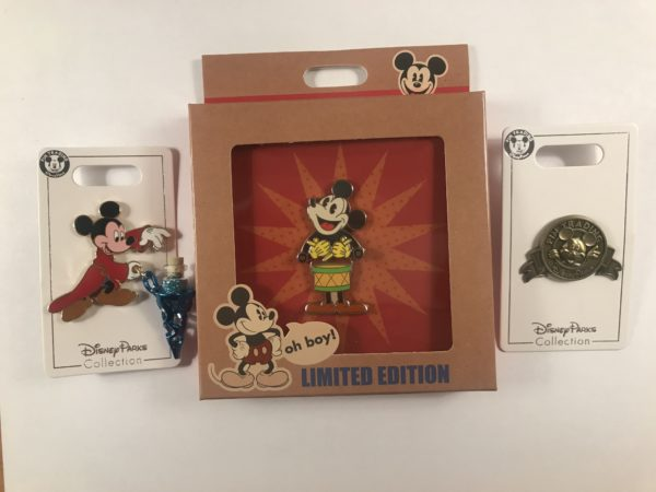 We've got some fun Mickey Mouse pins this month!