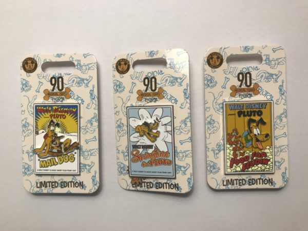 Check out these limited edition pins celebrating 90s years of Pluto!