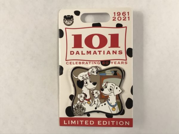 Pongo and Perdita and their adorable puppies adorn this pin!