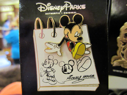 Each Disney trading pin is a little work of art.