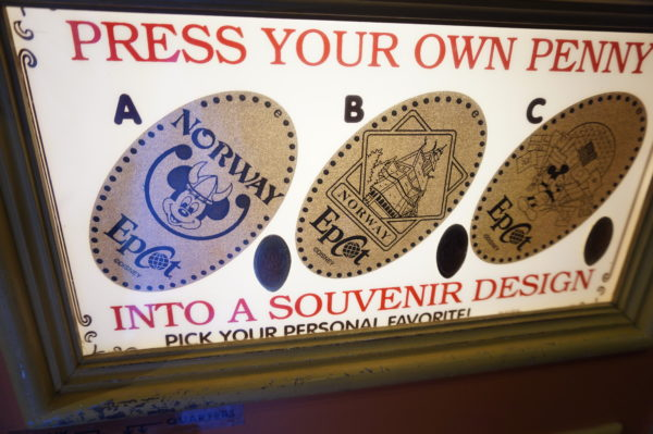 Press some pennies to remember your trip around World Showcase!