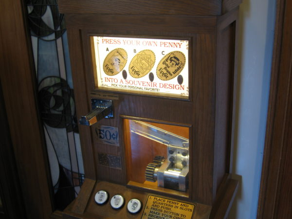 Most country pavilions in World Showcase have pressed penny machines!