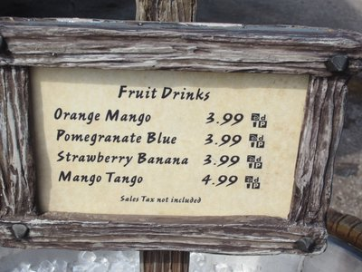 You can purchase many different fruit drinks.
