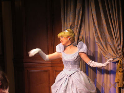 Cinderellas greets guests in the most royal of ways.