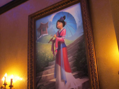 Each portrait, like this one of Mulan, is beautiful.