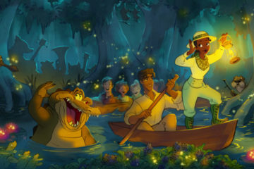 Disney artwork for the Princess and the Frog remake of Splash Mountain. Photo credits (C) Disney Enterprises, Inc. All Rights Reserved