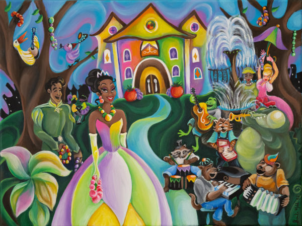 Disney commissioned local New Orleans artists to create inspiration artwork. Photo credits (C) Disney Enterprises, Inc. All Rights Reserved