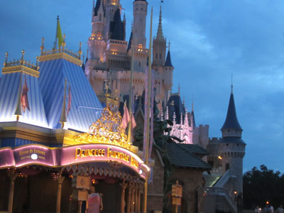 Princess Fairytale Hall is located in the shadow of Cinderella Castle.