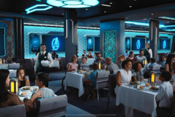 Amazing Avengers dining on the Disney Wish. Photo credits (C) Disney Enterprises, Inc. All Rights Reserved
