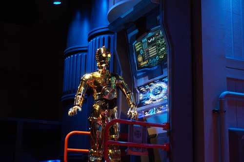 Star Tours offers a great queue these days.