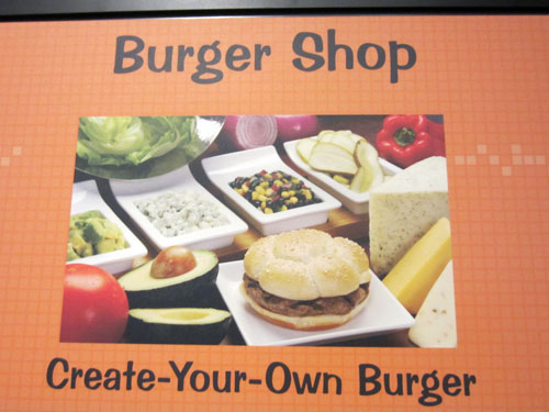 Make your own burger at the Landscape of Flavors.