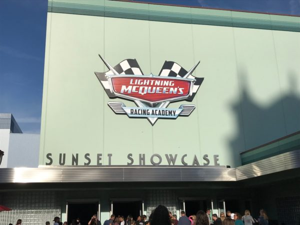 Lightning McQueen's Racing Academy takes place in the Sunset Showcase building.