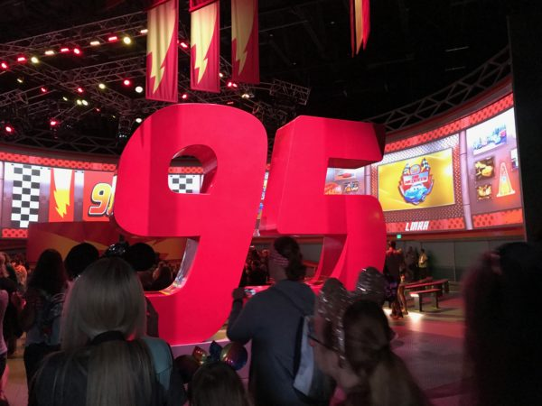 You will see references to Lightning McQueen's number, 95, all around.