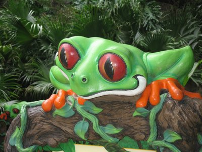The Rainforest Cafe is a fun-filled restaurant with plenty of activity going on.