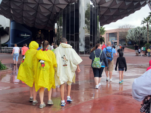 A rain poncho helps you to keep going.