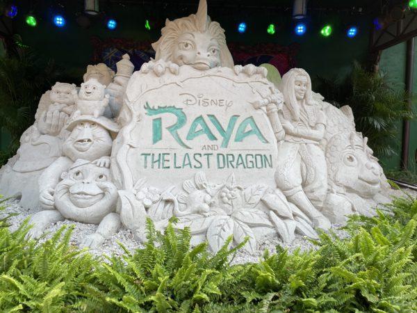 This temporary work of art celebrates Disney's latest film, Raya and the Last Dragon.