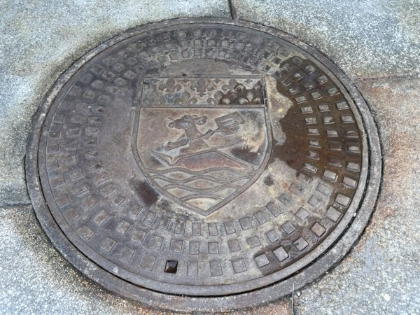 Look down for the manhole cover that displays Remy and a few fleur de lis.