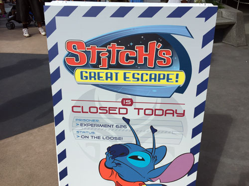 Stitch is open seasonally now.