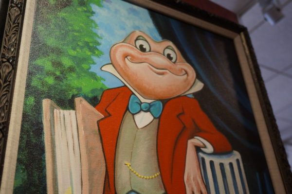 Mr. Toad may be gone, but he's not forgotten. He appears in several places around Magic Kingdom.