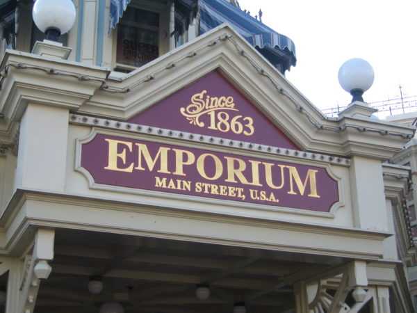 Taking a shortcut through the Emporium can mean that you skip all the crowds on Main Street USA.