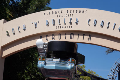 You can find the coaster at the end of Sunset Blvd – just look for the upside-down car.