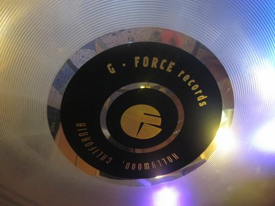 Enter the attraction through the lobby of G Force Records.