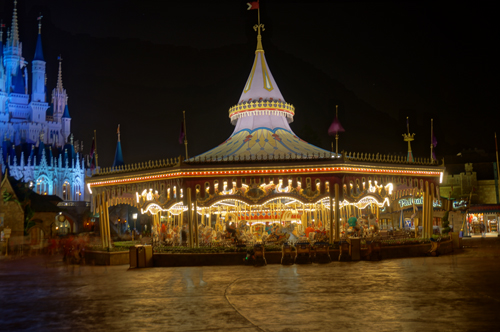 Reminisce on the old-time carousel in Fantasyland.