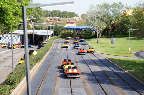 You'll be racing around a smaller track until Summer 2019 while construction on Tron continues.