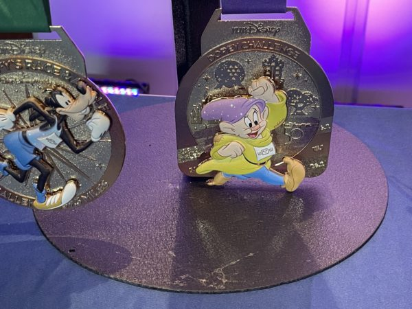 And those Dopey enough to do all of the runs back to back will get this Dopey medal!