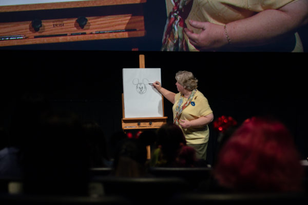 Disney Cast Members shared animation lessons with the students. Photo credits (C) Disney Enterprises, Inc. All Rights Reserved