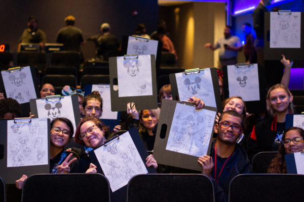 The art students got to create their own art. Photo credits (C) Disney Enterprises, Inc. All Rights Reserved